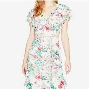 Rachel Roy Floral Maxi Dress with side cutouts 0